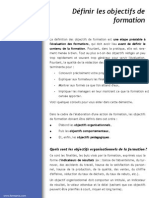 Definir Objectifs Formation