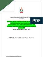 Estructura de Evaluacion Conocimientos Del Silabo Seminario
