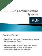 Advance Communication System Lectures Part 1