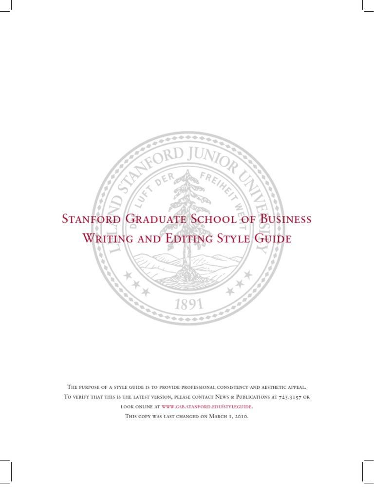 Stanford GSB Grammar Style Guide | Ellipsis | Acronym