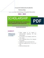 447 Requirement Scholarship ITS