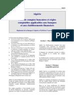 Algerie - R.1992-08 Plan Comptable Banques