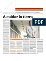 28.04.2012 EL COMERCIO Decano PUCP Terra 2012 a Cuidar La Tierra