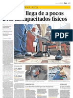 29.04.2012 EL COMERCIO Buenas prácticas Los distritos luchan por ser inclusivos