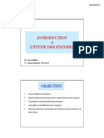 Introduction a l Etude Des Enzymes 2012