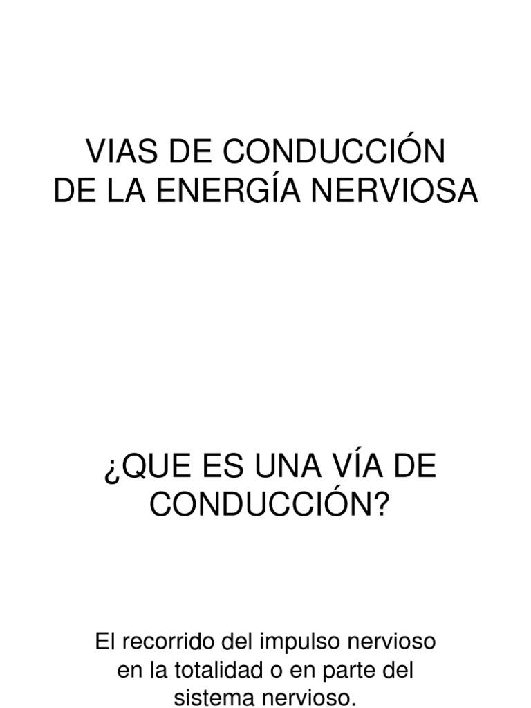 5-VIAS DE CONDUCCION