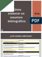 Guía Power para elaborar un resumen bibliográficoi