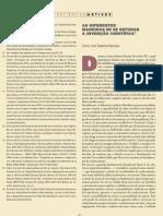 AS DIFERENTES MANEIRAS DE SE ESTUDAR A INVENÇÃO CIENTÍFICA