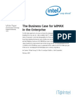 Business Case for Wimax in the Enterprise