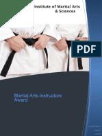 Instructors Award Info