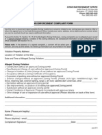 Zoning Complaint Form 2010