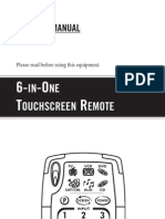 Radio Shack 6inOne Remote Manual
