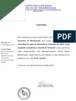 Aceptacion 33-11 Salmonella en Camarones