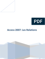 Access 2007 Les Relations