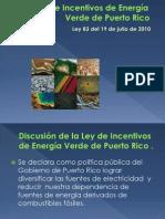 presentacion final Ley de Incentivos de Energía Verde de Puerto