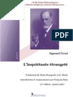 Freud - L'inquiétante étrangeté, long commentaire puis texte traduit