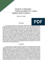 Candel - Demócrito y Epicuro El átomo como elemento y como límite ontológico