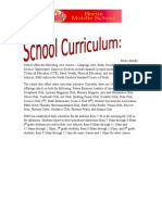 School Curriculum and Student Achievement