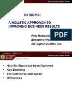 Beyond 6-Sigma - A Holistic Approach -- 6S Qualtec