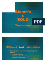 Bloom's & Solo Taxonomy