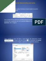 Formato de Texto en Word 2010