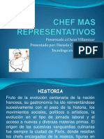 Cocineros y Chef Mas Representativos(Presentacion Power Point)