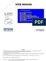 Epson Stylus T21, T24, T27, S21 Color Inkjet Printer Service Manual