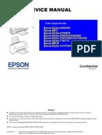 Epson Stylus T21, T24, T27, S21 Color Inkjet Printer Service Manual
