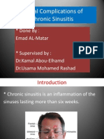 Orbital Complications of Chronic Sinusitis