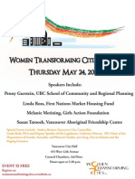 Women Transforming Cities Launch Poster
