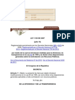 LEY 1150 DE 2007 contratacion