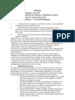 Síntese Livro_Pedagogia e pedagogos Para que