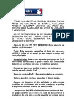 Reglas Para La Jugada Del Beisbol