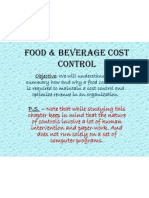 Food & Beverage Control