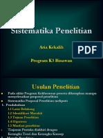 Sistematika Penelitian 28 April 2012