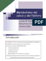 Metabolismo Del Calcio y Del Fosforo