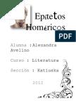 Epítetos  Homéricos