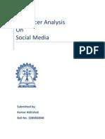 Influencer analysis on Social Media  10BM60040 VGSOM