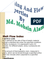 Plastics Testing Processing and Flow Properties