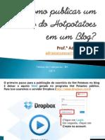 Como publicar um exercício do Hotpotatoes no Blog