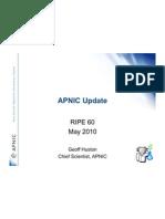 Apnic Update Ripe60