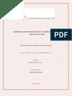 Guía didáctica de  póster digital integrando el podcast educativo 2012