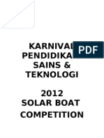 Solar Boat Competition 'New Version'