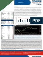 weekly market outlook 30.04.12