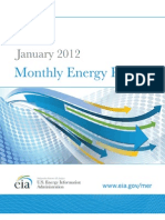 US EIA January 2012 Monthly Energy Review
