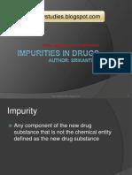 Impurities in Drugs