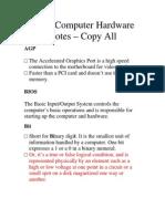 Hardware Pdf Notes