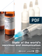 State of world's vaccines and immunization