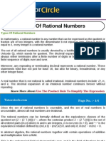 Types of Rational Numbers