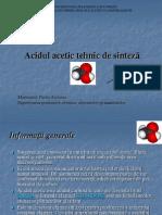 Acidul Acetic-Raport Expertizare